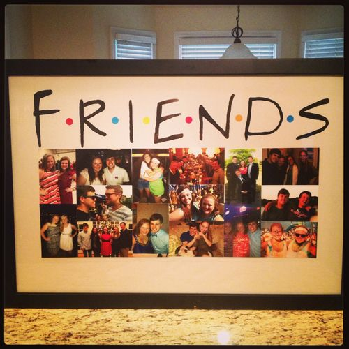 Cute idea for displaying pictures of your best friends from home in your college dorm.