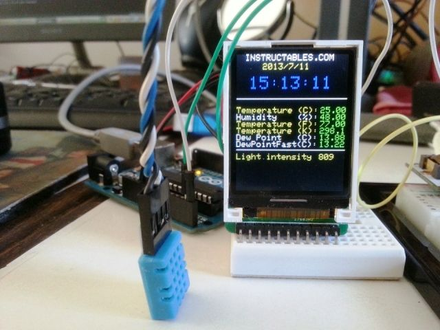 This is an Example of how you can use the Arduino to monitor various environmental parameters And display them on a LCD screen. Note: I Added a Real Time Clock!! To see the steps, added parts and Sketch I added new steps..