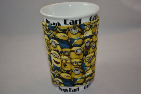 Minion Cup Cozy by DeeZignz on Etsy
