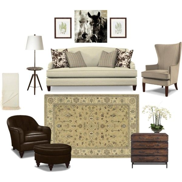 Rustic Equestrian Inspired Living Room By Designvignettes On Polyvore  Featuring Polyvore, Interior, Interiors,