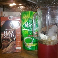 FAT-BURNING POWER SHAKE: Ice Cubes, Lowcarb, Green Teas, Flaxseed Meal, Cups Water, Fat Burning Power, 1 5 Cups
