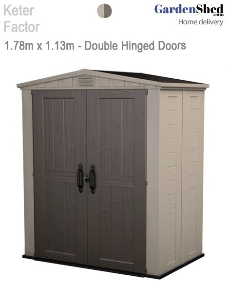 keter factor large 6 x 3 ft resin outdoor backyard garden storage shed external dimensions 70 in d x 82 in - Garden Sheds 6 X 2