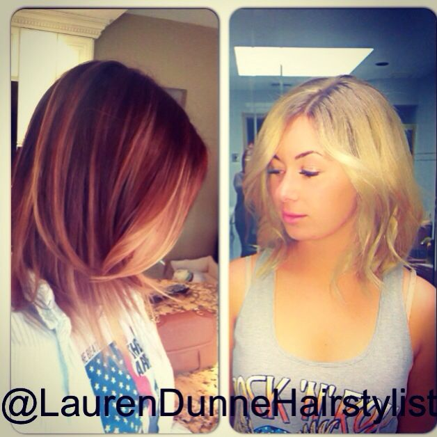 Before And After From Ombr To All Over Blonde Hair Color