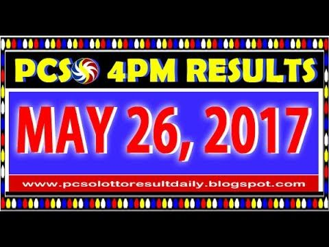 PCSO MidDay - 4PM Results May 26, 2017 (SWERTRES & EZ2)