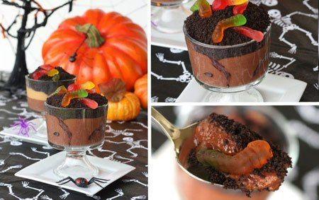 Postre choco-terrorífico con gusanitos ¡El halloween llega a la cocina! | Recetas faciles, Videos de Cocina | SaborContinental.com