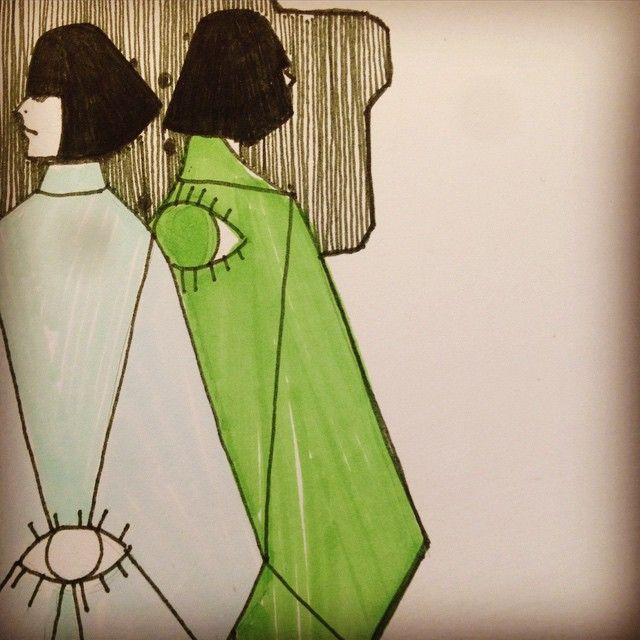 #illustration #indianink #marker #sketch #drawing #idasondell #kimono