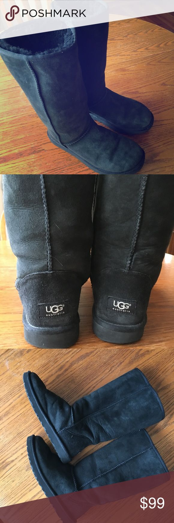UGG Tall Black Suede Boots size 8. UGG Tall Black Suede Boots in very good condition.  size 8.  Authentic purchased at Nordstrom UGG Shoes
