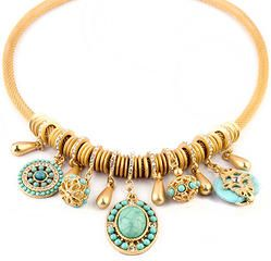 Crystal Encrusted Collar Statement Necklaces