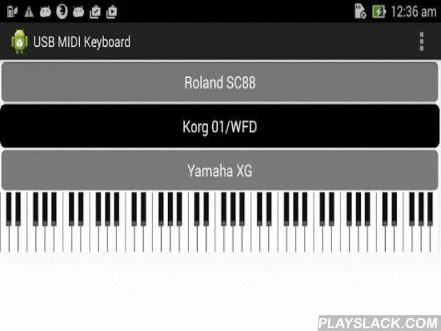 USB Midi Keyboard  Android App - playslack.com ,  Micro Key Player: As I have limited space in my house, I have bought a Korg Microkey 61 and practice playing piano with an android device. But all the piano apps available in Google Play are not optimized for everyday usb keyboard use. There is always the ask permission and connection problem. And the latency is too much for decent play. After using an existing app for a few weeks, I give up and decide to make my own. I have created a…