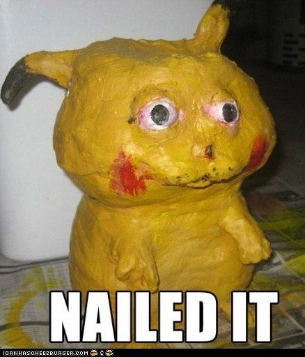 Pikachu: Nailed It. This is actually terrifying. This will haunt my dreams tonight.