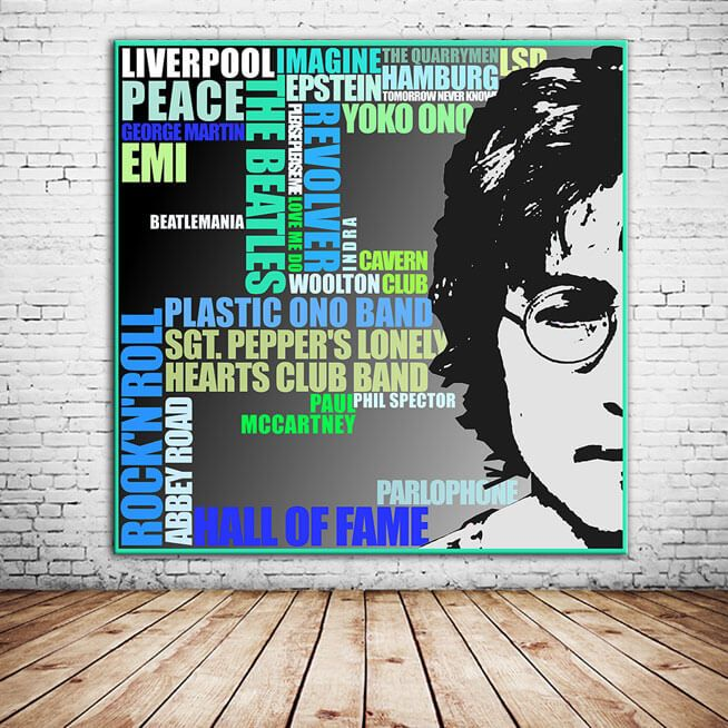 """""""LIVERPOOL"""" Als Schüler gründete John Lennon 1960 in Liverpool die erfolgreichste Band der Musikgeschichte – die Beatles. Nach nur 10 Jahren, jeder Menge Hysterie und schätzungsweise mehr als 1 Mrd. verkaufter Tonträger, lösten sie sich allerdings 1970 schon wieder auf. Haben es Euch die 4 Pilzköpfe jedoch immer noch angetan, solltet Ihr Euch diesen Druck bestellen. Gerne können auch die 3 anderen Beatles grafisch im selben Stil gestaltet werden. Oder auch Ihr könnt Teil der Beatles…"""