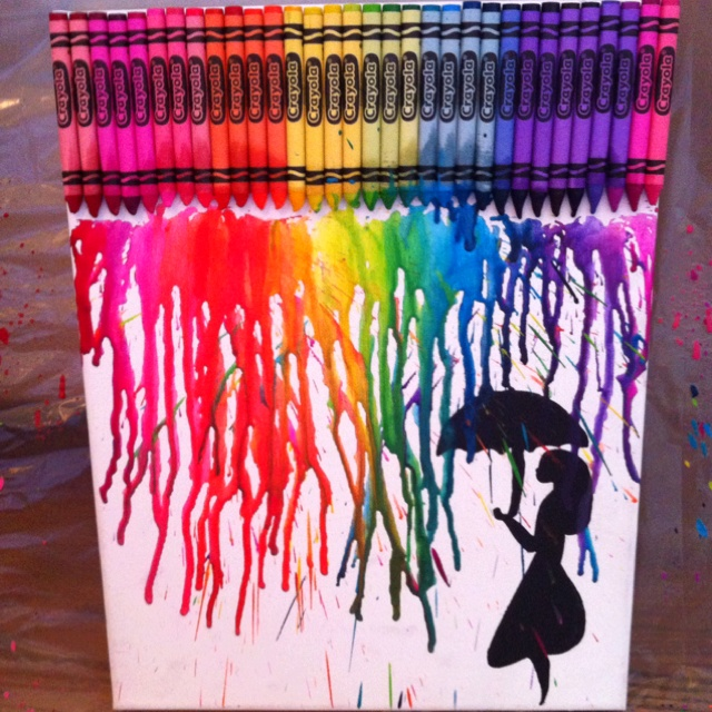 28 best images about umbrella inspiration on pinterest for Melted crayon art techniques
