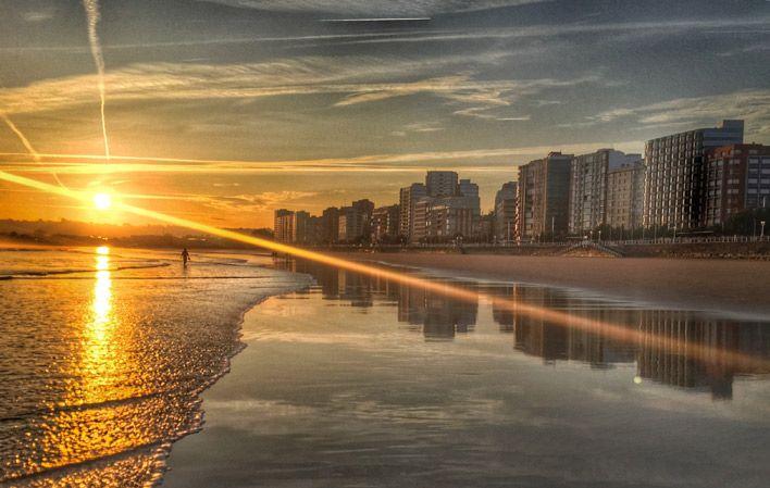 Playa de San Lorenzo #Gijón #playa #beach #Asturias #ParaísoNatural #NaturalParadise #Spain