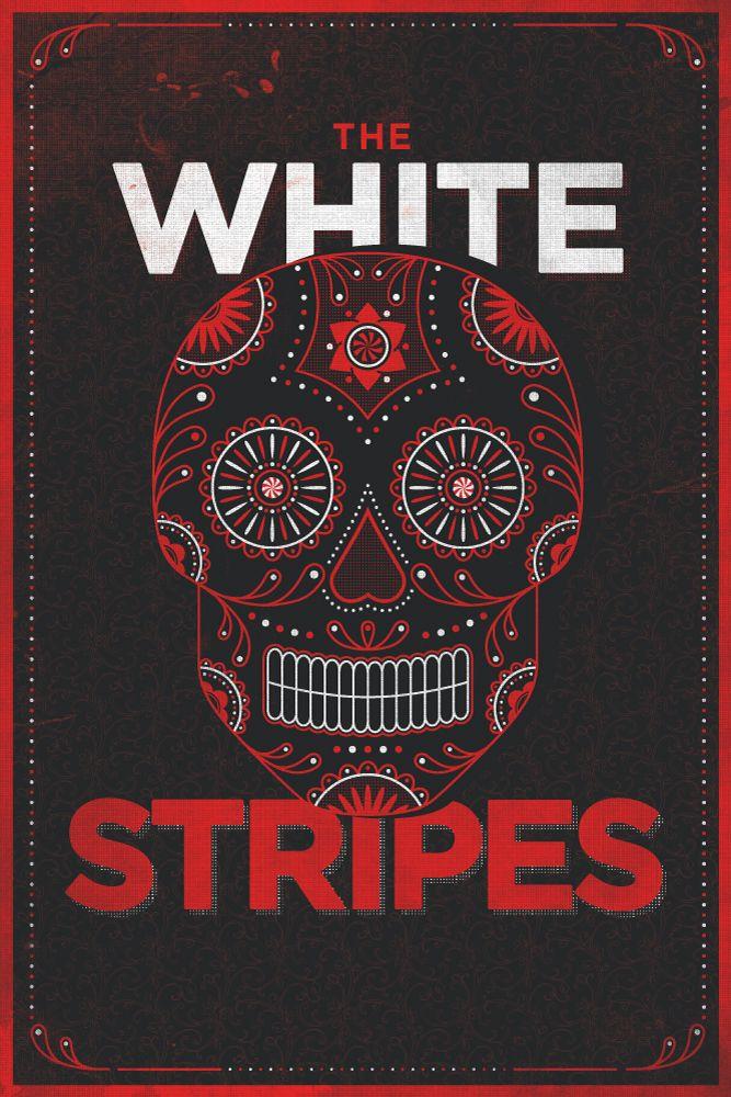 White Stripes Skull Poster by Jamie McLennan (via Creattica)
