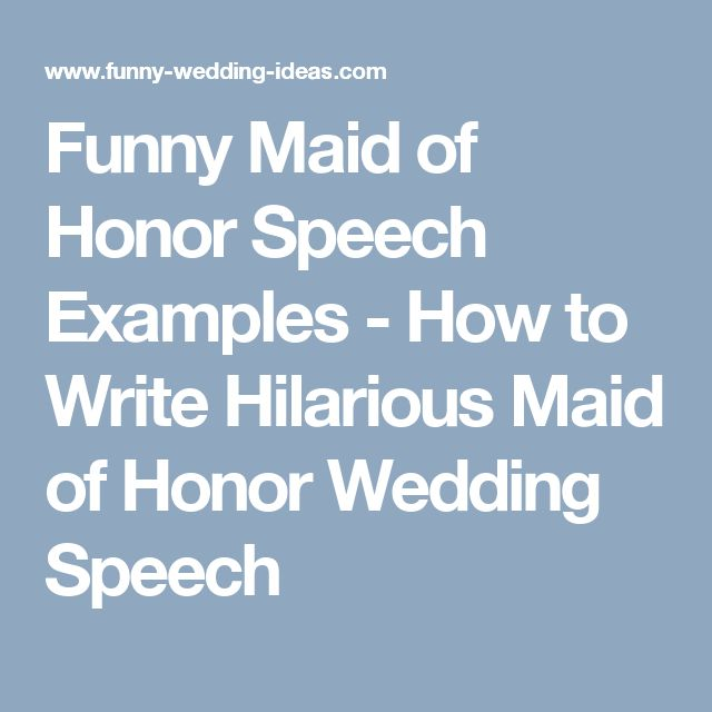i need help writing a speech for my sisters wedding A wedding speech should never be a points scoring exercise mentioning the stag weekend is a classic example of exclusive humour you're channelling the speech directly at a few guests for your own pleasure and it never feels right.