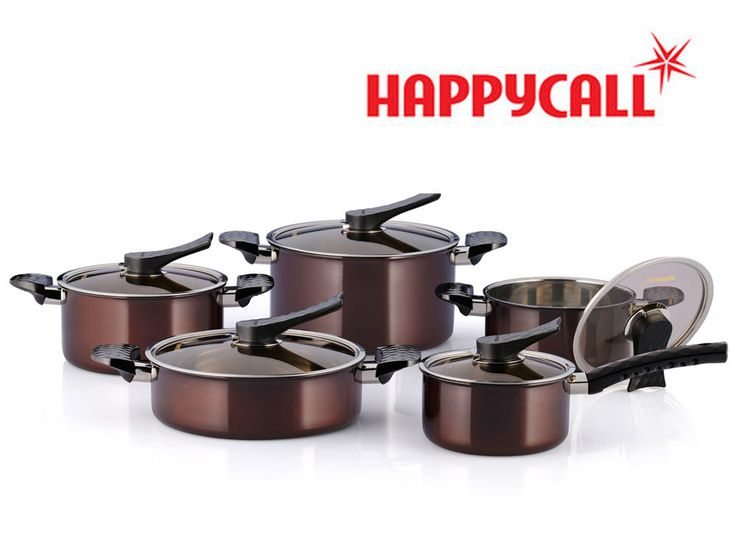Happycall Forcelline 2-Ply Stainless Steel Pots Kitchen Cookware Set 10Piece New #Happycall