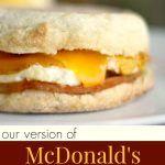 Copycat McDonald's Egg McMuffins