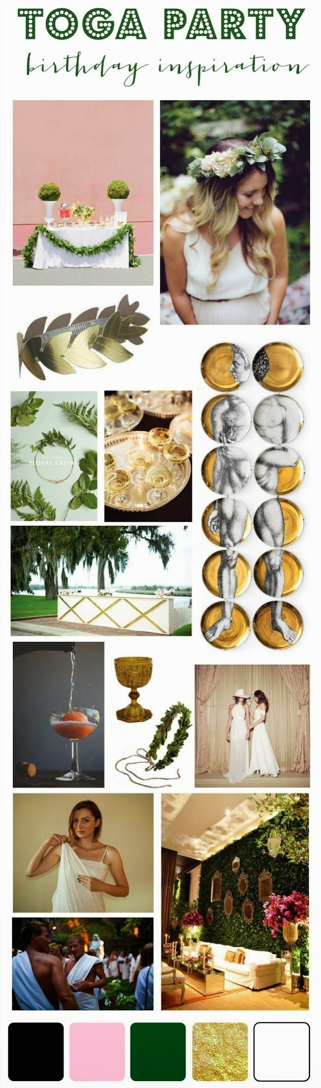 mint love social club: {birthday inspiration: 29th birthday toga party}
