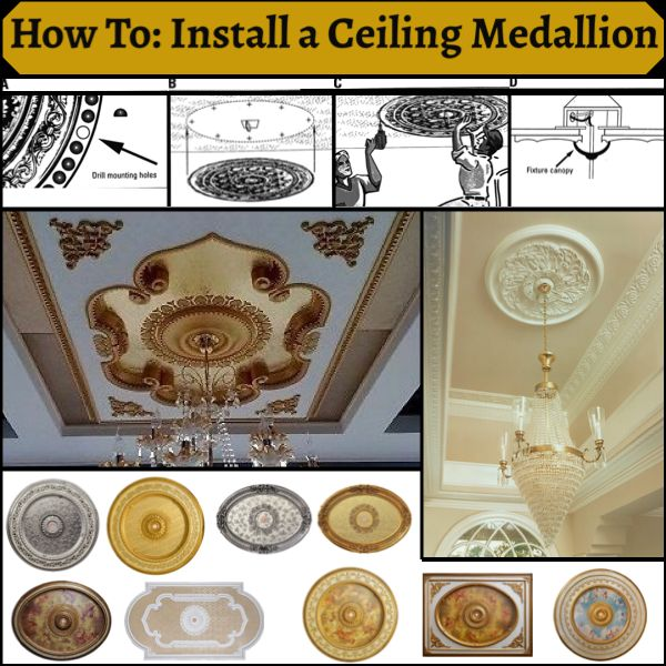 Ekena Millwork Benson Classic Ceiling Medallion with Gold ...