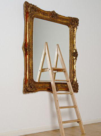 James Hopkins:Threshold, 2010  #art #urbanart #mirror #conceptualart #ladder #gold www.kidsofdada.com/products/threshold