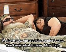 """Phil & Kay at the furniture store.  Ms. Kay """"Does that mean sex?"""" haahah"""