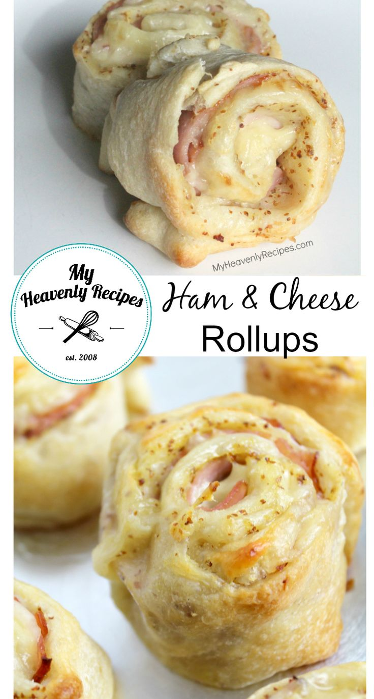 Ham and Cheese Rollups - A super quick lunch or a way to feed the crowd these Ham & Cheese Rollups contain ingredients you already have on hand and are sooo goood!