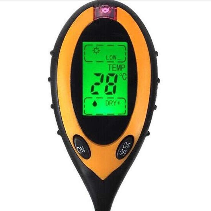 4 in 1 electronic soil analysis test instrument Soil pH meter thermometer/ hygrometer/PH meters professional / Light meter