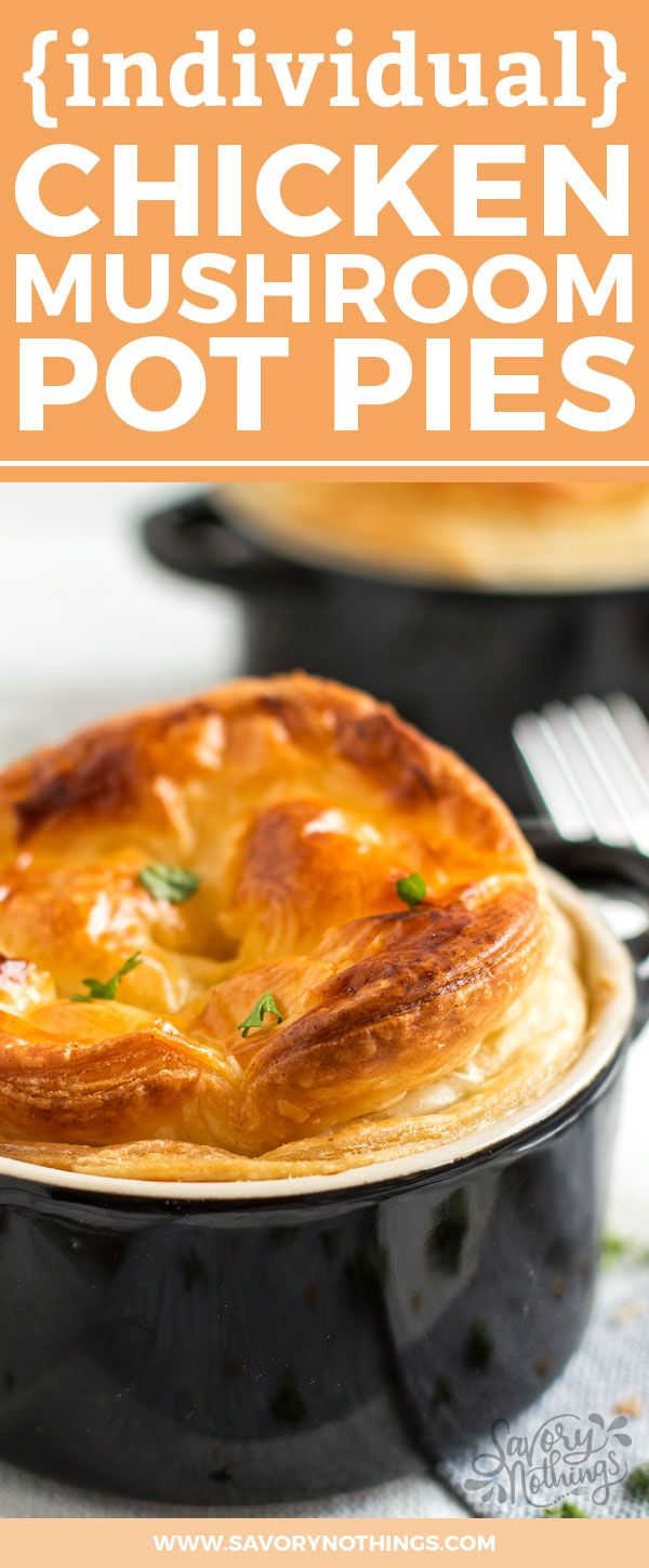 casserole dinner with these individual mini chicken mushroom pot pies ...