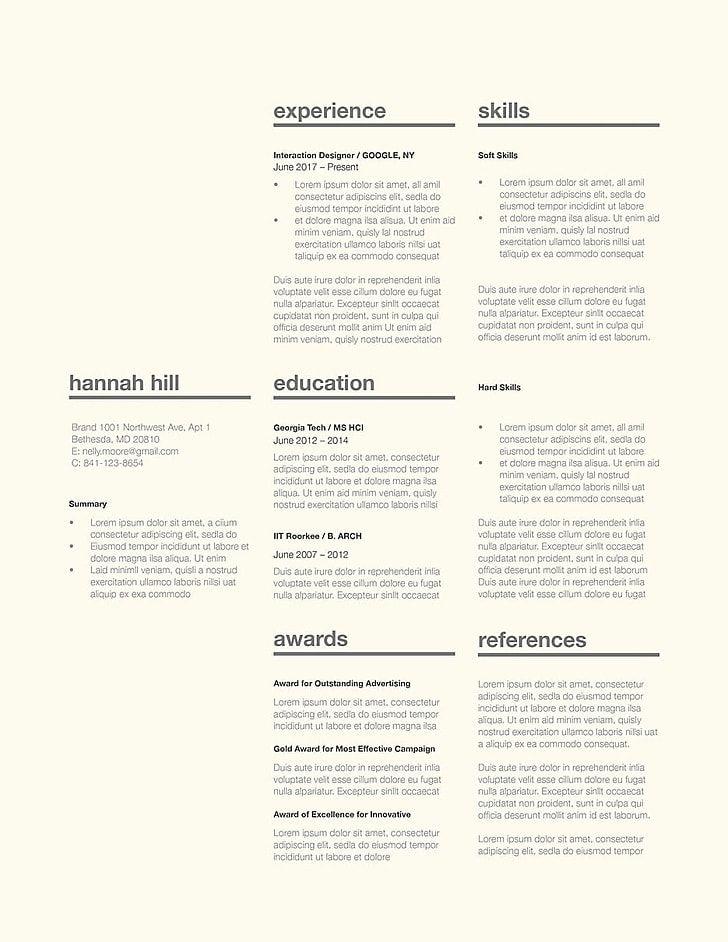 Classic Resume Template 120360 professional smart  resume best