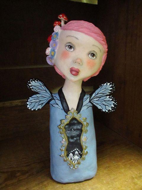mathilde, the forest dweller, .... OOAK pop surrealism art doll sculpture | Flickr - Photo Sharing!