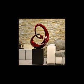 Lack Skulptur Rontus in Rot