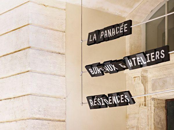 La Panacée / Signage