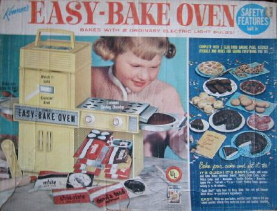 I so had an Easy Bake Oven, ran out of the cake