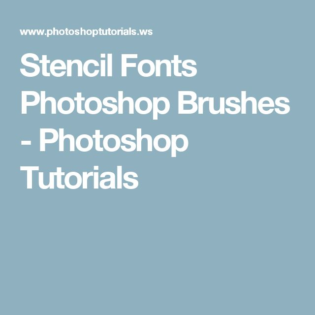 1000+ ideas about Stencil Font on Pinterest | Typography fonts ...