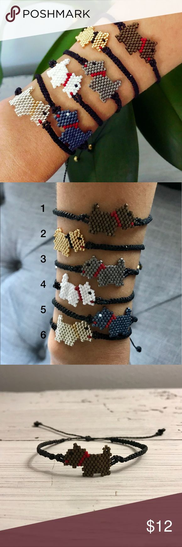 Cute Handmade Dog Bracelets! *Handmade from artisans of Jalisco, Mexico                        *Bracelet is adjustable                                                             *Made of waxed thread and fine beads. Swarovski crystals.                                                                                    *Huichol Art.                                                                           *Great for yourself or as a gift, kids love them!                    *Price is Firm…