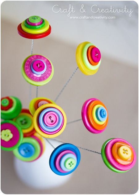 DIY Button flowers - by Craft & Creativity