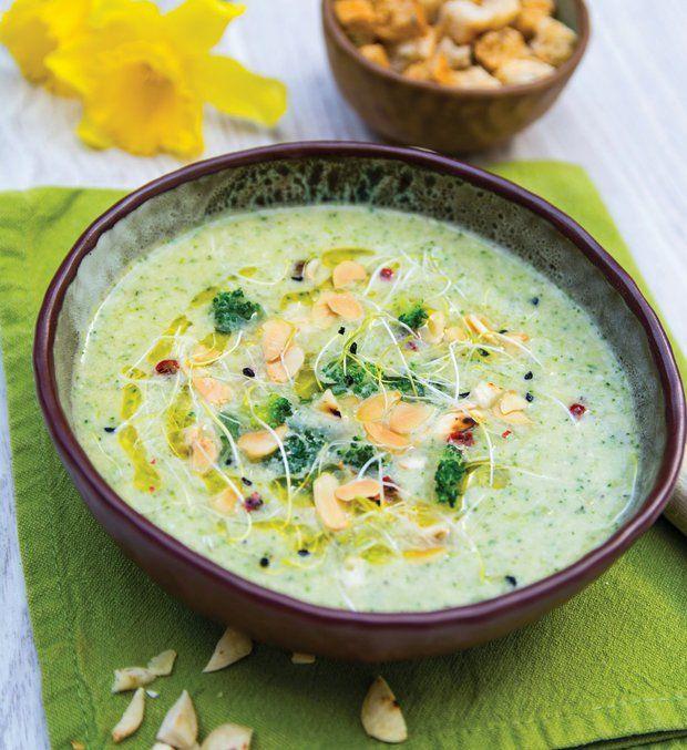 Mandlová brokolicová polévka , Foto: Zeleninová kuchařka