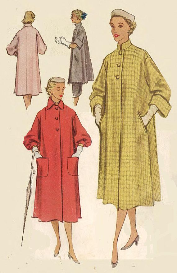 Vintage 1950's Sewing Pattern Reversible Coat & Lounging