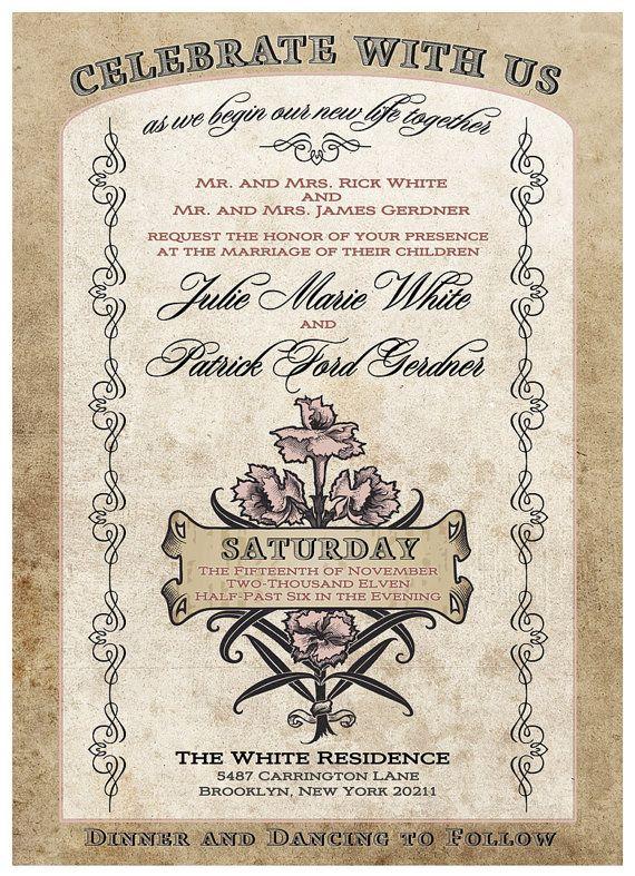 41 best Weddinginvitation to the dance images on Pinterest
