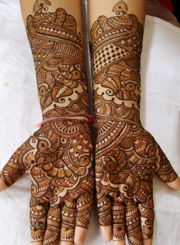 Best Bridal Mehndi Designs For Full Hands 2014