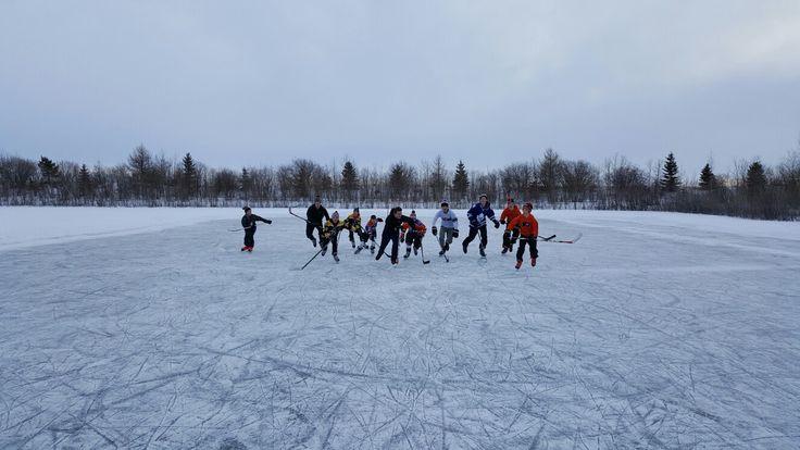 Sask. pond hockey