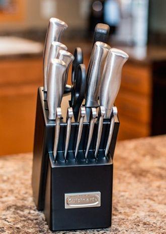 A practical, stylish wedding present: Cuisinart 15-piece stainless steel cutlery set, $56.99 #GrouponWeddingSweeps