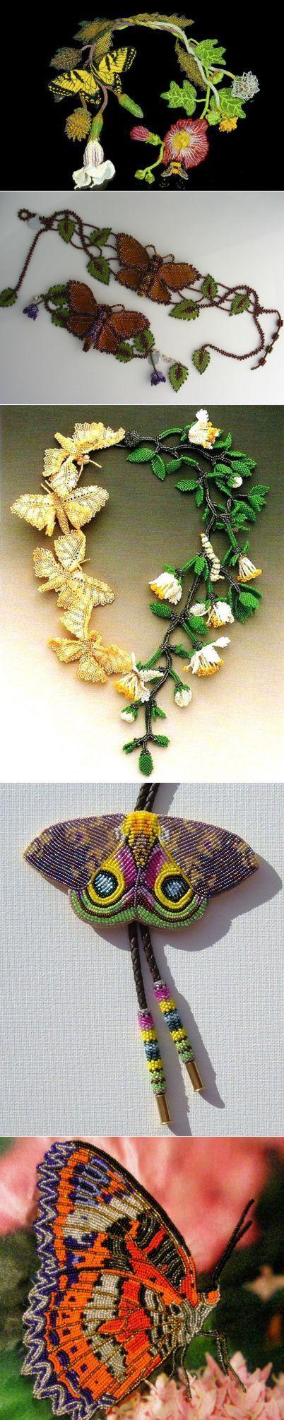 бисер.бабочки.(идеи)