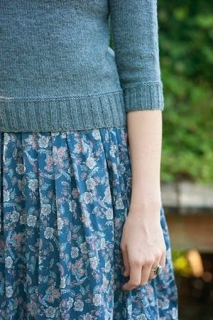 Not sure how sweater over dress would look on me, but love it anyway!