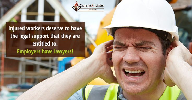 Injured workers deserve to have the legal support that they are entitled to. Employers have lawyers! http://www.currieliabolaw.com/practice-areas/personal-injury-and-workers-compensation/
