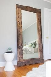 Rustic handmade Full length Reclaimed Wood Floor Mirror