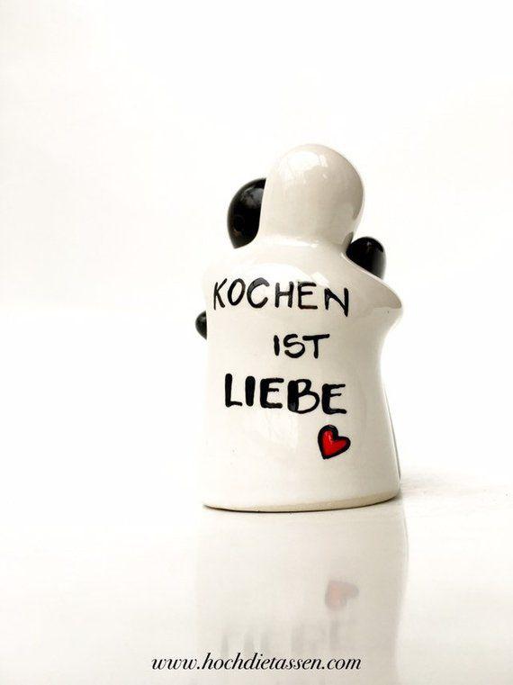 Kochen Ist Liebe Pfeffer Salz Schwarz Weiss Salt Condiments