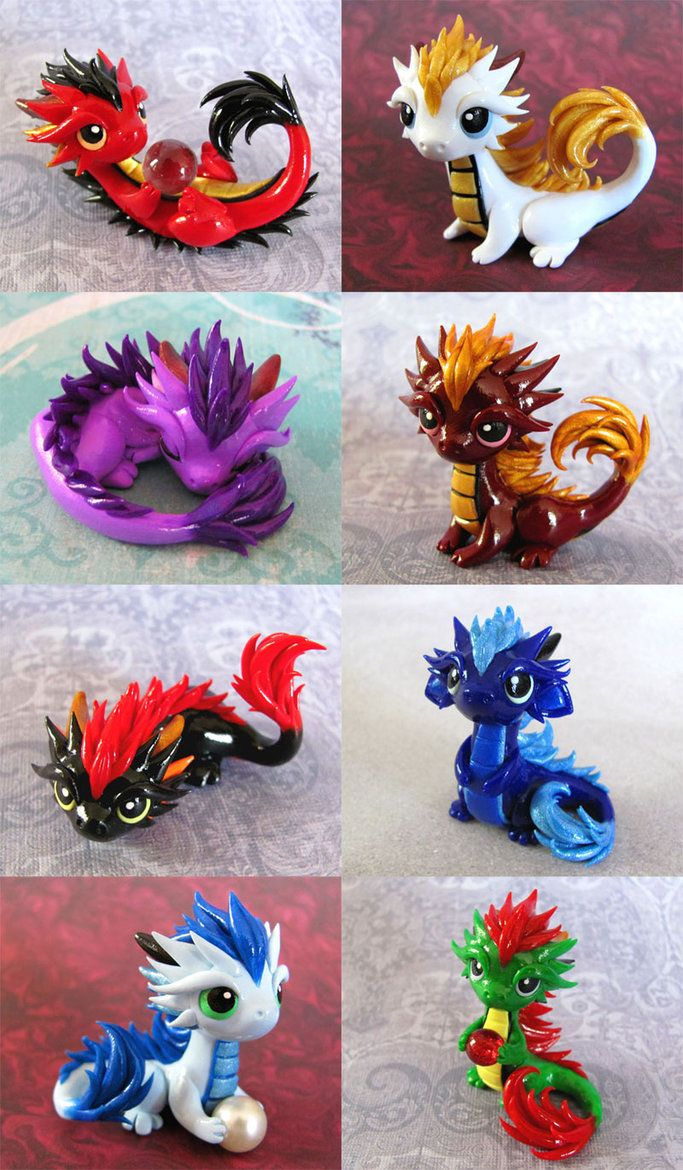 Baby Orientals 2 by *DragonsAndBeasties on deviantART .... Third row first one is my favorite reminds me of toothless from how to train your dragon!!