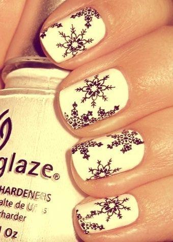 snow flake nailsNails Art, Holiday Nails, Nailart, Christmasnails, Christmas Nails Design, Nails Ideas, Winter Nails, Snowflakes Nails, The Holiday
