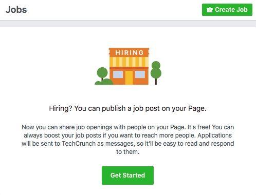 Bientôt des offres d'emploi sur Facebook ?